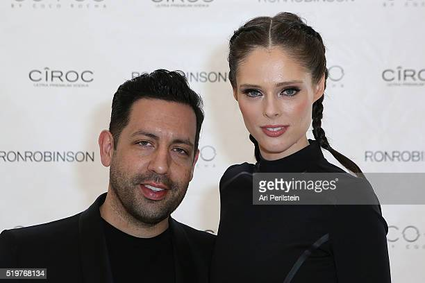 James Conran and Model Coco Rocha arrive at COCO Collection Launch fueled by Ciroc Ultra Premium Vodka at Ron Robinson on April 7 2016 in Santa...
