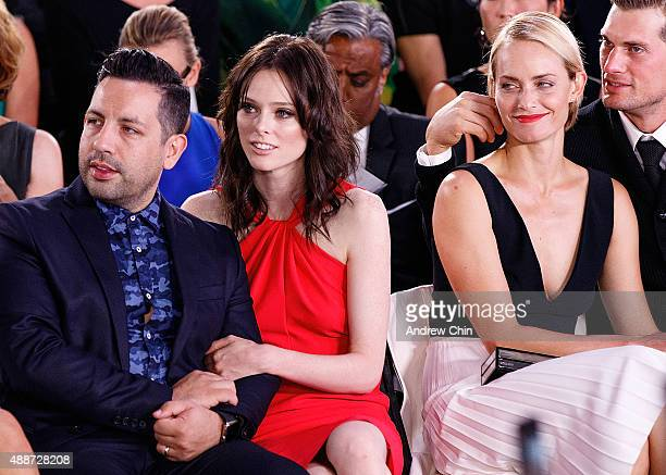 James Conran Coco Rocha Amber Valletta and Teddy Charles watch Nordstrom Vancouver Store Opening Gala Fashion Show at Vancouver Art Gallery on...