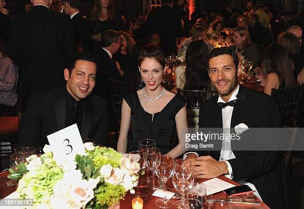 James Conran Coco Rocha and Alain Bernard attend The Norman Mailer Center Fifth Annual Benefit Gala at The New York Public Library at The New York...
