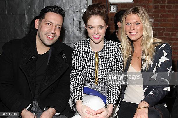 James Conran Coco Rocha and Alexandra RIchards attend the Sass Bide fashion show during MercedesBenz Fashion Week Fall 2014 at The Waterfront on...