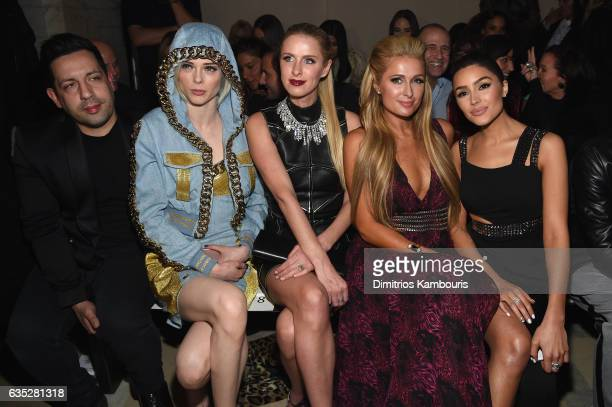 James Conran Coco Rocha Nicky Hilton Rothschild Paris Hilton and Olivia Culpo attend the Front Row for the Philipp Plein Fall/Winter 2017/2018...