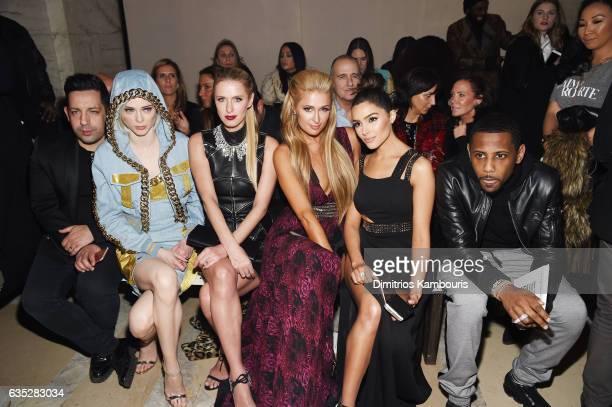 James Conran Coco Rocha Nicky Hilton Rothschild Paris Hilton and Olivia Culpo attend the Front Row for the Philipp Plein Fall/Winter 2017/2018...