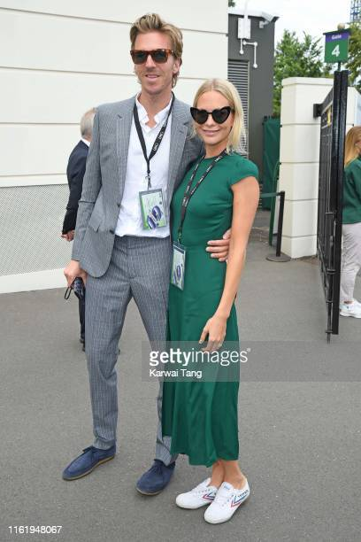 James Cook and Poppy Delevingne attend Men's Finals Day of the Wimbledon Tennis Championships at All England Lawn Tennis and Croquet Club on July 14...