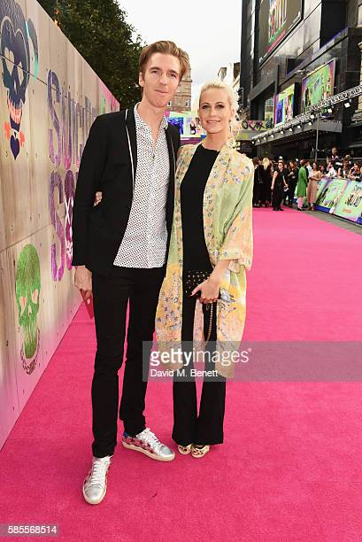James Cook and Poppy Delevingne attend the European Premiere of Suicide Squad at Odeon Leicester Square on August 3 2016 in London England