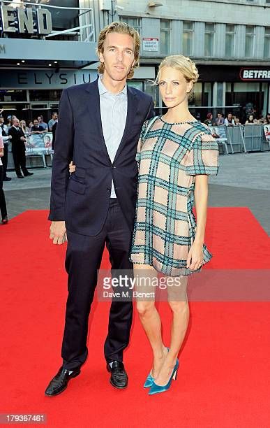 James Cook and Poppy Delevingne attend the World Premiere of 'Rush' at Odeon Leicester Square on September 2 2013 in London England