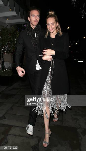 James Cook and Poppy Delevingne seen on a night out leaving Scott's restaurant and heading to Chiltern Firehouse on December 19 2018 in London England