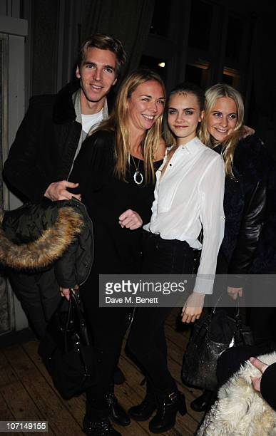 James Cook Tor Cook Cara Delevingne and Poppy Delevingne attend the Alice Temperley party at Paradise on November 25 2010 in London England