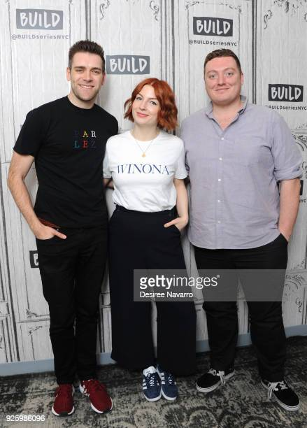 James Cooper Alice Levine and Jamie Morton attend Build Series to discuss 'My Dad Wrote a Porno' at Build Studio on March 1 2018 in New York City