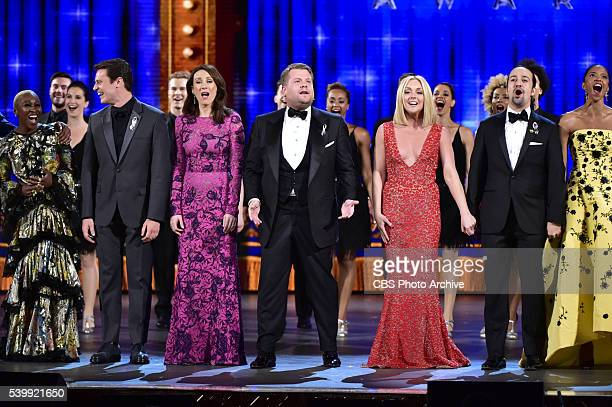 James Corden and all of the Tony nominees at THE 70TH ANNUAL TONY AWARDS live from the Beacon Theatre in New York City Sunday June 12 on the CBS...
