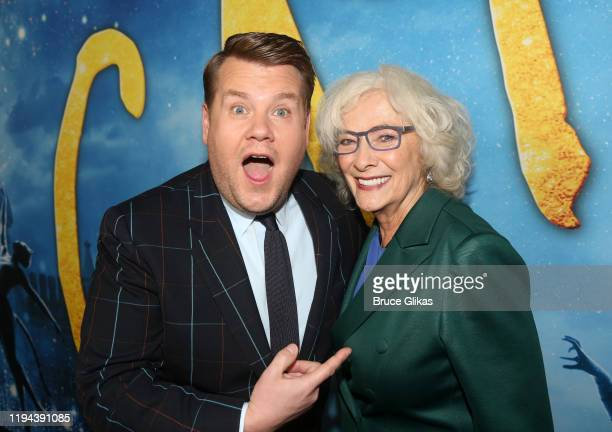 James Corden and Betty Buckley pose at the World Premiere of the new film Cats based on the Andrew Lloyd Webber musical at Alice Tully Hall Lincoln...