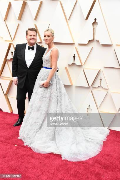 James Corden and Julia Carey 1attend the 92nd Annual Academy Awards at Hollywood and Highland on February 09, 2020 in Hollywood, California.