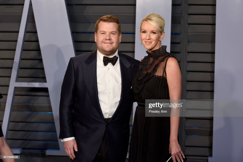 James Corden and Julia Carey attend the 2018 Vanity Fair Oscar Party Hosted By Radhika Jones - Arrivals at Wallis Annenberg Center for the Performing Arts on March 4, 2018 in Beverly Hills, California.