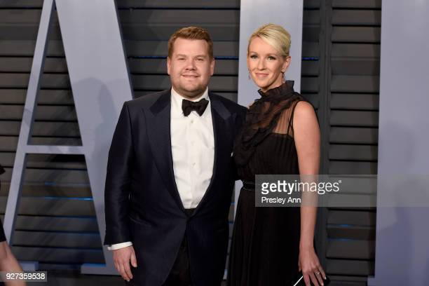 James Corden and Julia Carey attend the 2018 Vanity Fair Oscar Party Hosted By Radhika Jones - Arrivals at Wallis Annenberg Center for the Performing...