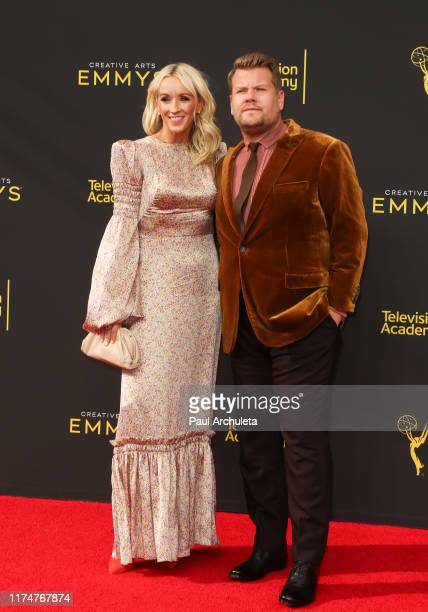 James Corden and Julia Carey attend the 2019 Creative Arts Emmy Awards on September 14 2019 in Los Angeles California