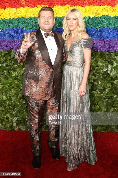 James Corden and Julia Carey attend the 2019 Tony Awards at Radio City Music Hall on June 9 2019 in New York City