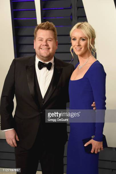 James Corden and Julia Carey attend the 2019 Vanity Fair Oscar Party hosted by Radhika Jones at Wallis Annenberg Center for the Performing Arts on...