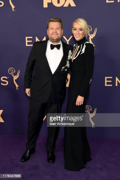 James Corden and Julia Carey attend the 71st Emmy Awards at Microsoft Theater on September 22 2019 in Los Angeles California