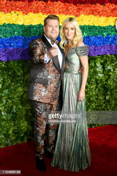 James Corden and Julia Carey attend the 73rd Annual Tony Awards at Radio City Music Hall on June 09, 2019 in New York City.