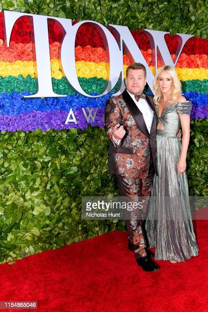 James Corden and Julia Carey attend the 73rd Annual Tony Awards at Radio City Music Hall on June 09 2019 in New York City