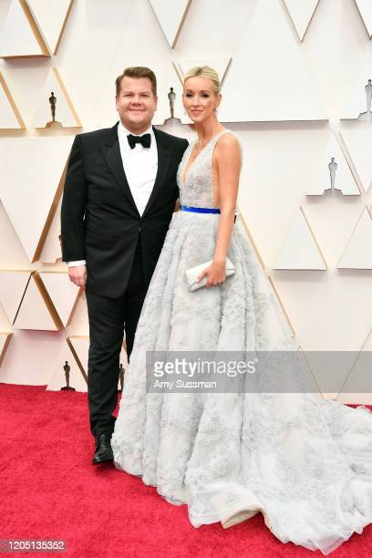 James Corden and Julia Carey attend the 92nd Annual Academy Awards at Hollywood and Highland on February 09 2020 in Hollywood California