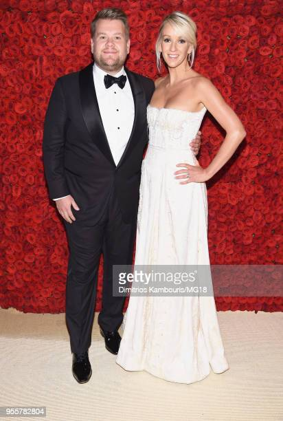 James Corden and Julia Carey attend the Heavenly Bodies Fashion The Catholic Imagination Costume Institute Gala at The Metropolitan Museum of Art on...