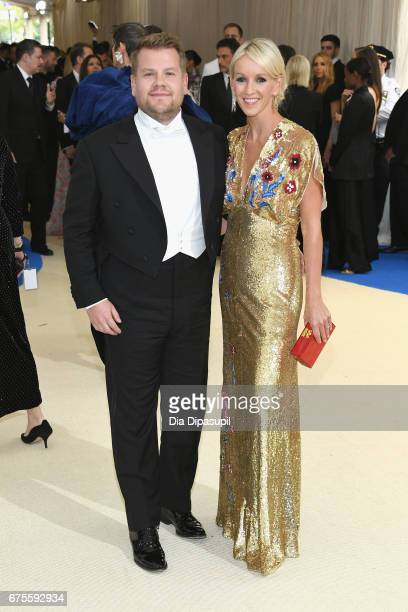 James Corden and Julia Carey attend the 'Rei Kawakubo/Comme des Garcons Art Of The InBetween' Costume Institute Gala at Metropolitan Museum of Art on...