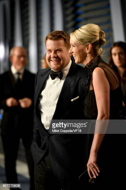 James Corden andJulia Carey attends the 2018 Vanity Fair Oscar Party hosted by Radhika Jones at Wallis Annenberg Center for the Performing Arts on...