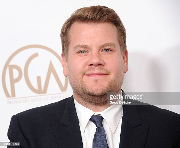 James Corden arrives at the 28th Annual Producers Guild Awards at The Beverly Hilton Hotel on January 28 2017 in Beverly Hills California