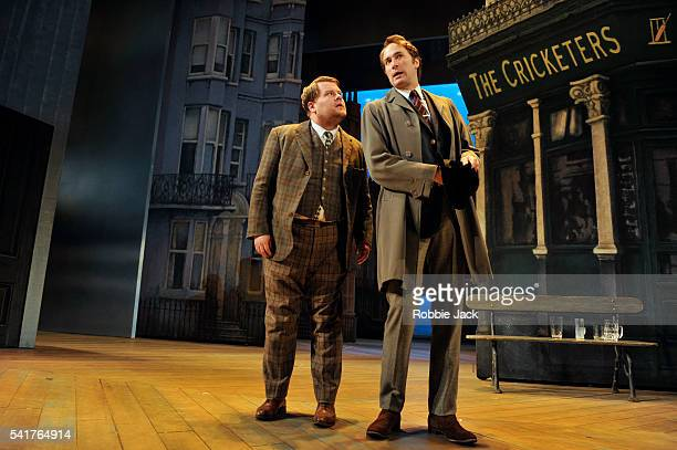 James Corden as Francis Henshall and Oliver Chris as Stanley Stubbers in Richard Bean's 'One ManTwo Guvnors' an adaptation of Carlo Goldoni's 'A...