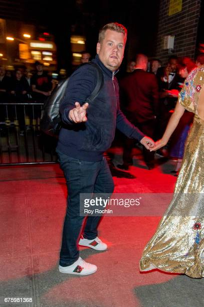 James Corden attends Rei Kawakubo/Comme des Garcons Art Of The InBetween Costume Institute Gala After Party at the Standard Hotel on May 1 2017 in...