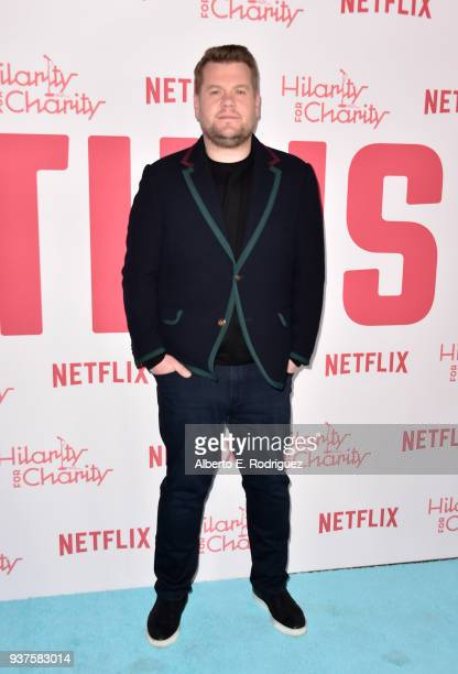 James Corden attends the 6th Annual Hilarity For Charity at The Hollywood Palladium on March 24 2018 in Los Angeles California