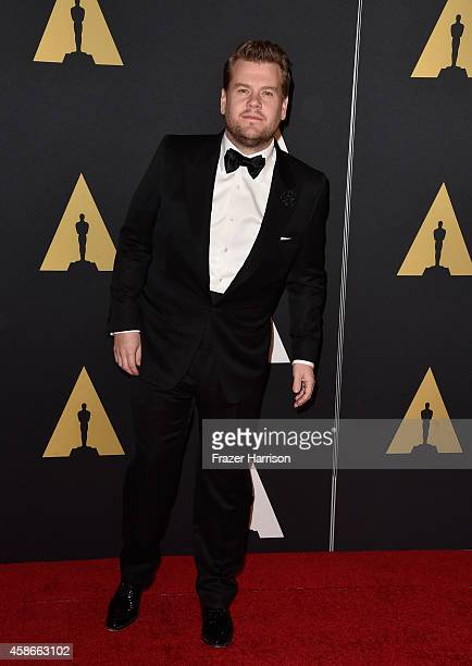 James Corden attends the Academy Of Motion Picture Arts And Sciences' 2014 Governors Awards at The Ray Dolby Ballroom at Hollywood Highland Center on...