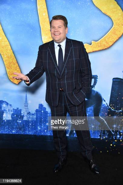 James Corden attends the Cats World Premiere at Alice Tully Hall Lincoln Center on December 16 2019 in New York City