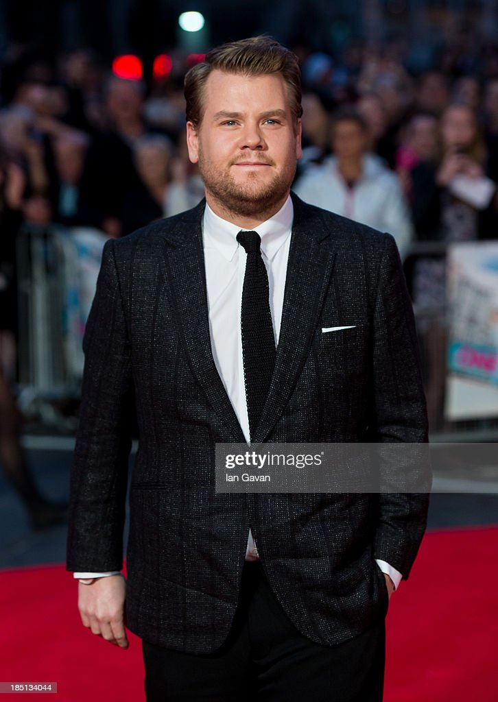James Corden attends the European premiere of 'One Chance' at The Odeon Leicester Square on October 17, 2013 in London, England.