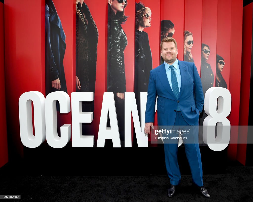 James Corden attends the 'Ocean's 8' World Premiere at Alice Tully Hall on June 5, 2018 in New York City.