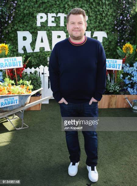 James Corden attends the photo call for Columbia Pictures' 'Peter Rabbit' at The London Hotel on February 2 2018 in West Hollywood California