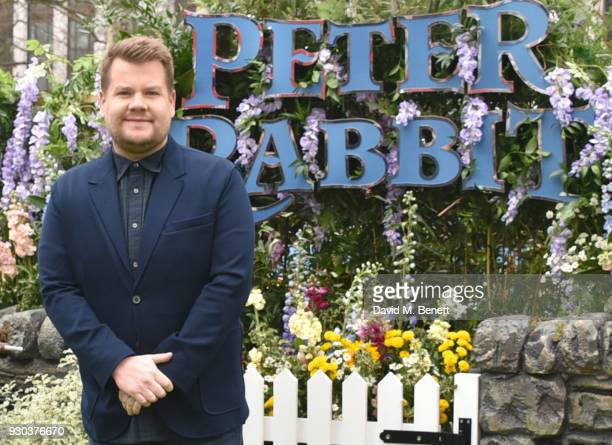 James Corden attends the UK Gala Premiere of 'Peter Rabbit' at the Vue West End on March 11 2018 in London England