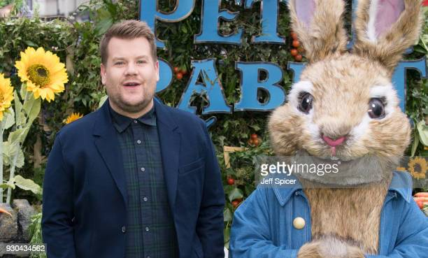 James Corden attends the UK Gala Screening of 'Peter Rabbit' at the Vue West End on March 11 2018 in London England