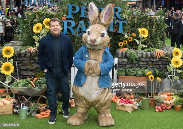 James Corden attends the UK Gala Screening of 'Peter Rabbit' at Vue West End on March 11 2018 in London England