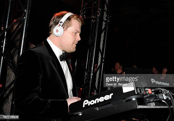 James Corden attends the Universal Music Brits Party hosted by Bacardi at the Soho House popup on February 20 2013 in London England