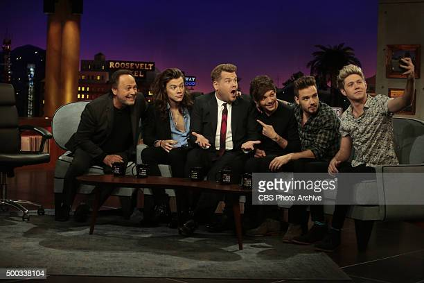 James Corden chats with Billy Crystal and members of the band One Direction on 'The Late Late Show with James Corden' Thursday December 3rd 2015 on...