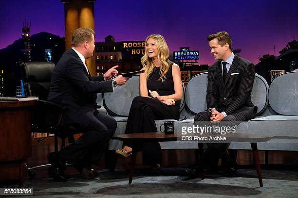 James Corden chats with Gwyneth Paltrow and Andrew Rannells on 'The Late Late Show with James Corden' Tuesday April 19th 2016 on The CBS Television...