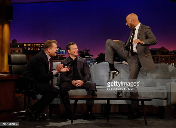 James Corden chats with Matt Damon and KeeganMichael Key on 'The Late Late Show with James Corden' Monday August 1st 2016 on The CBS Television...