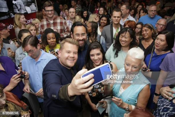 James Corden greets fans during the 'For Your Consideration Event' for THE LATE LATE SHOW WITH JAMES CORDEN held at the Wolf Theatre Saban Media...