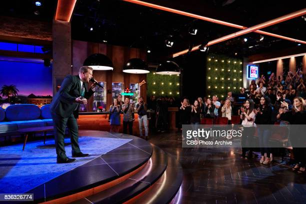 James Corden greets the audience during 'The Late Late Show with James Corden' Tuesday August 15 2017 On The CBS Television Network