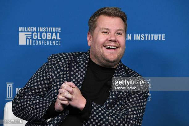 James Corden Host The Late Late Show participates in a panel discussion during the annual Milken Institute Global Conference at The Beverly Hilton...