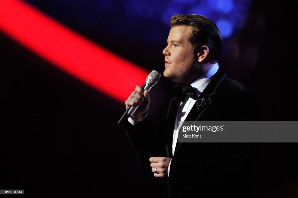 James Corden hosts the Brit Awards 2013 at the 02 Arena on February 20, 2013 in London, England.