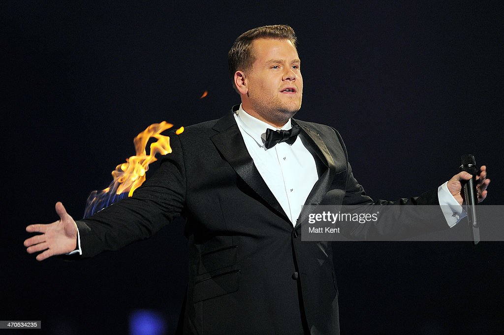 James Corden hosts The BRIT Awards 2014 at 02 Arena on February 19, 2014 in London, England.