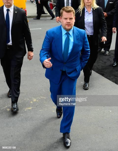 James Corden is seen in motwn on June 5 2018 in New York City