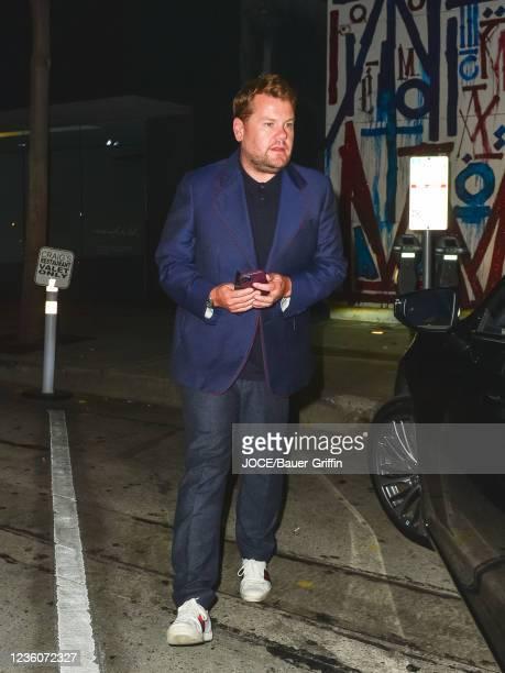 James Corden is seen on October 22, 2021 in Los Angeles, California.